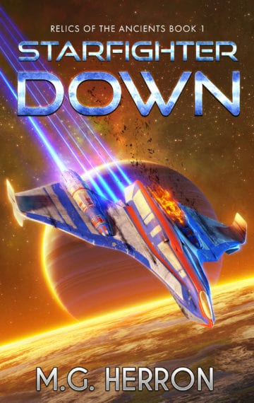 ebook cover, Starfighter Down